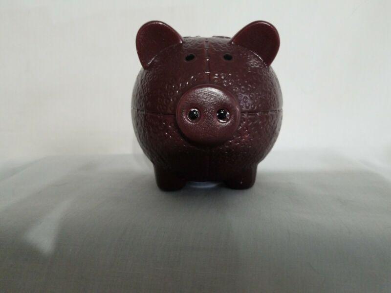 Brown Pig Football Piggy Bank