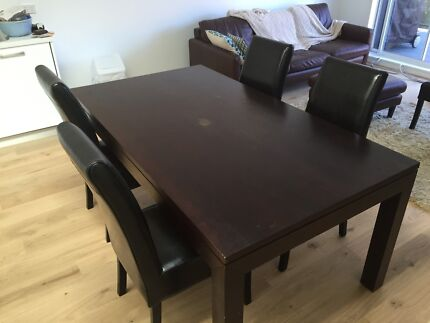 Fantastic dark wood dining table with FREE dining chairs! Coogee Eastern Suburbs Preview