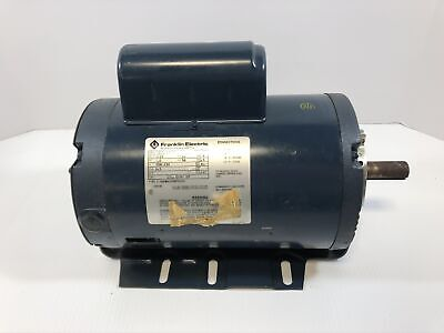 Franklin Electric Motor 1091260400 1hp 1725 Rpm 1ph 56 Frame Used