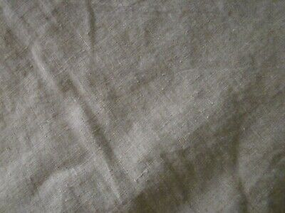 100%  LINEN FABRIC natural MED WT ORGANIC FLAX 7.5 oz WASHED
