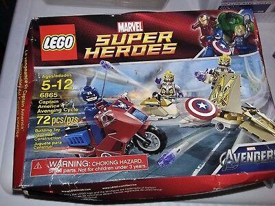 LEGO Marvel Set 6865 Captain America Avenging Cycle Motorcycle Sealed NISB