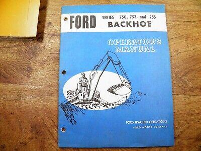 Ford 760 753 755 Backhoe Operators Manual