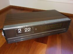 Vintage Retro York AM FM Digital Clock Radio Transistor Flip Number Model DC-102