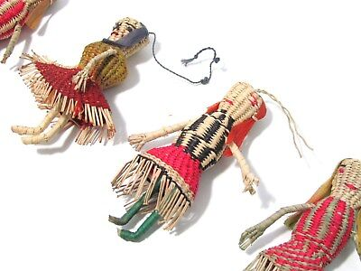4 Vintage Handmade Latin American indigenous Folk Art Handicraft Ornament Dolls