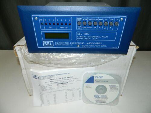 NEW Schweitzer SEL-587 Current Overcurrent Differential Relay 0587106X531
