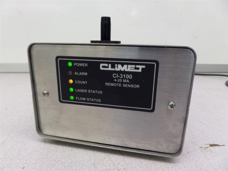 Climet CI-3100 4-20 MA Remote Sensor Particle Counter CI-3100-12-1-4-4
