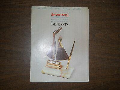 Sheaffer's Vintage l961 Desk Set Catalog--20 pages