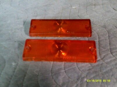 1965 chevy impala,belair,biscayne,pair of front park lamp lenses amber.