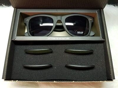Black Framed Sunglasses with Interchangeable Lenses 100% UV Protection