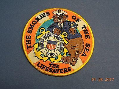 US Coast Guard The Smokies Sea Lifesavers USCG Military Smokey Bear Patch #Q01