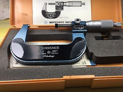 Mitutoyo 159-213 2-3 Mech. - Digital Micrometer Needs Adjusted. English-metric