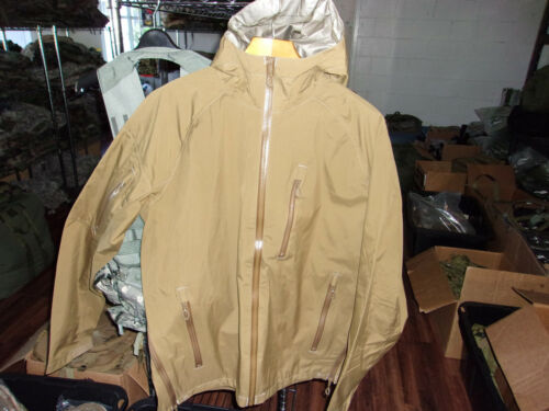 BEYOND CLOTHING....COYOTE BROWN GORE-TEX A-6 RAIN JACKET MEDIUM REG.