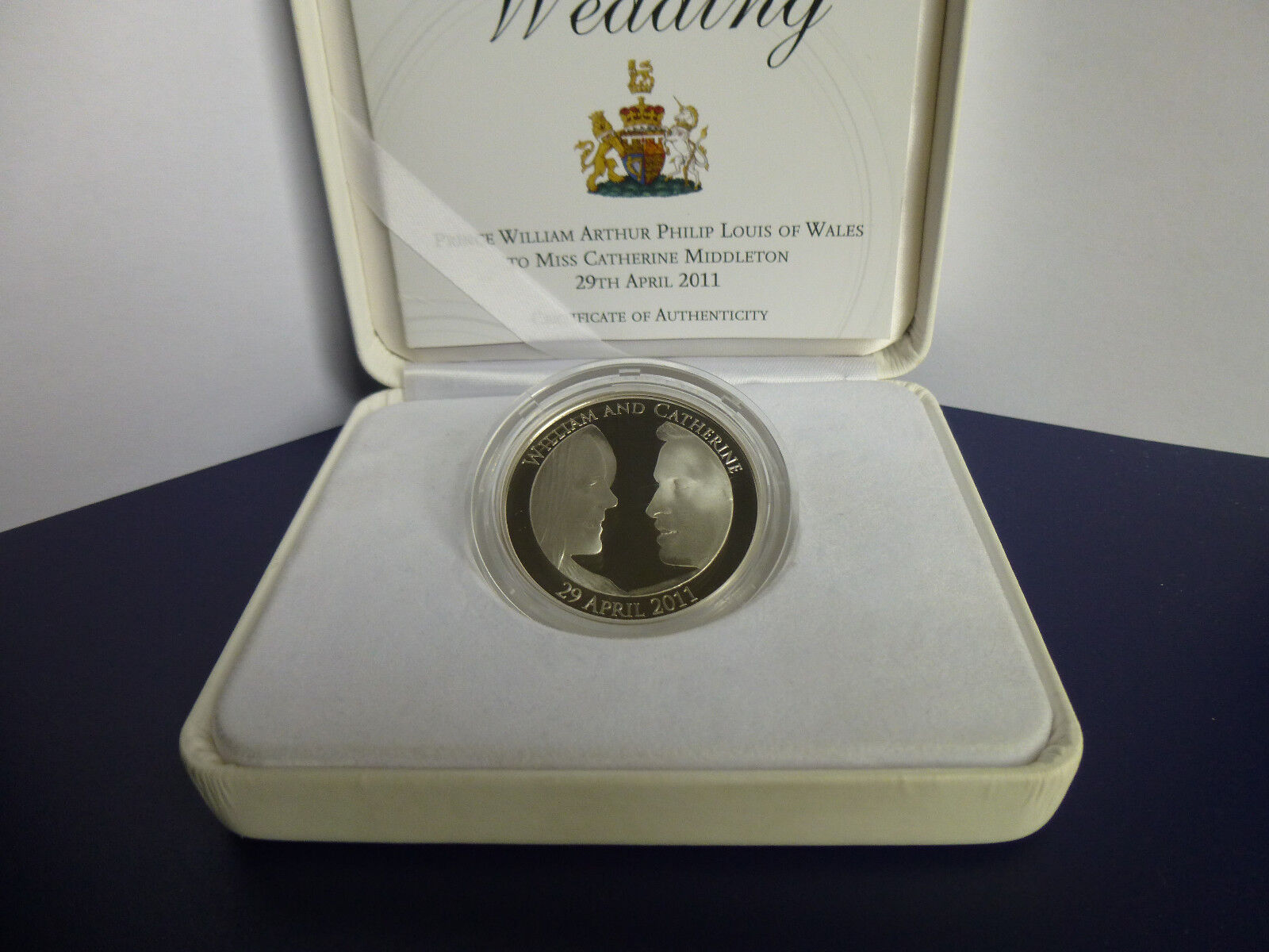 2011 Royal Wedding Silver Proof 5 Crown Box
