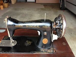 Vintage Treadle Singer Sewing Machine Table Miranda Sutherland Area Preview