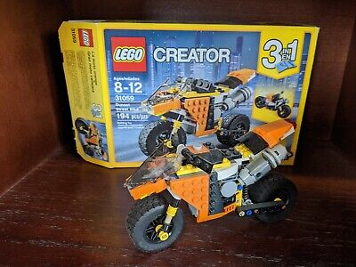 (USED) LEGO CREATOR SUNSET STREET BIKE Dragster Motorcycle 31059