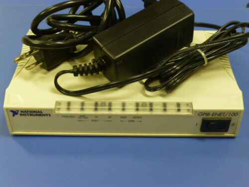 National Instruments NI GPIB-ENET/100 Ethernet GPIB Controller with Power Supply
