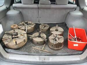 6 x LARGE LATHE CHUCKS RANGING FROM 200MM TO 320MM IN SIZE