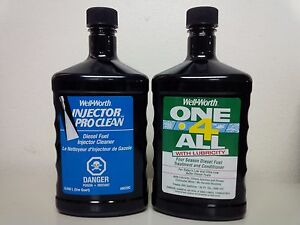 INJECTOR PRO CLEAN Diesel Injector Cleaner and ONE 4 ALL with LUBRICITY