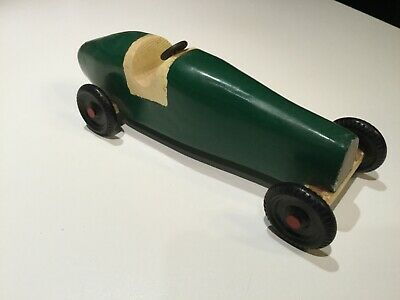 1970s Wood Toy Hand Crafted Car