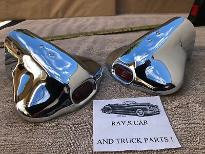 NEW VINTAGE STYLE EXHAUST TIPS WITH A RED JEWEL ! CAR / THUCK  for sale  West Covina