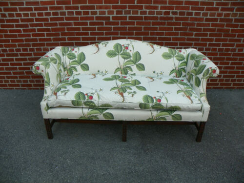 KITTINGER COLONIAL WILLIAMSBURG CW 23 CHIPPENDALE STYLE MAHOGANY SOFA