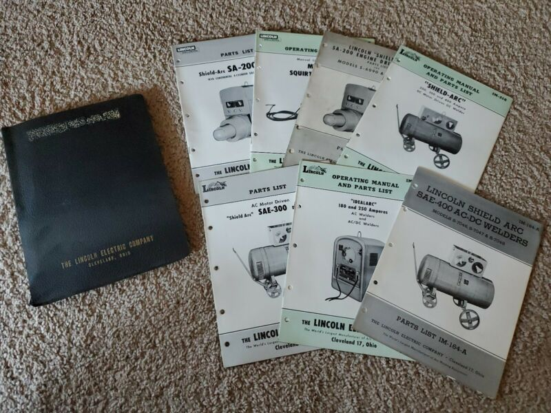 Lincoln Electric Company Binder Of Parts Lists & Instruction Manuals Welders