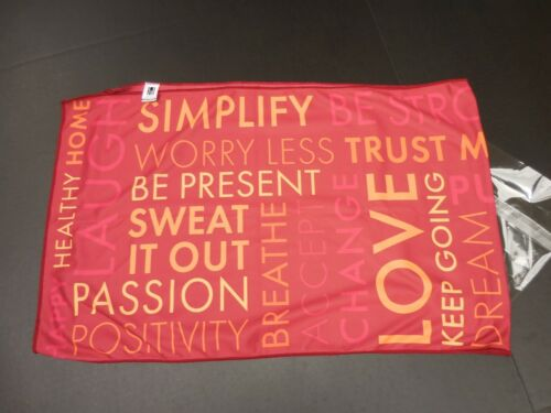 WORKOUT / YOGA TOWEL ~ MOTIVATIONAL WORDS ~ NEW ~ FAST SHIPPING 16 X 44