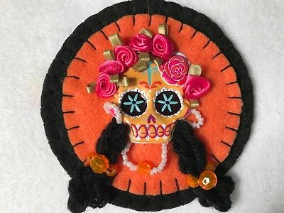 Skeleton ornament for halloween, sugar skull, catrina doll. Item# S10 - Halloween Catrina