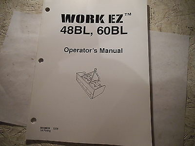 Work Ez 48bl 60bl Box Blade Operators Manual