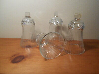 Lot of 4 Clear Renaissance  Votive Cups Homco Home Interiors