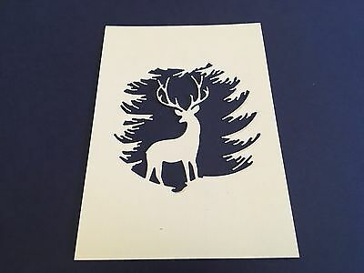 6 x Evergreen Reindeer die cuts **FREE UK POSTAGE** ideal for Christmas cards
