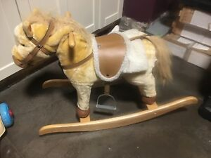 Child's rocking horse with sounds