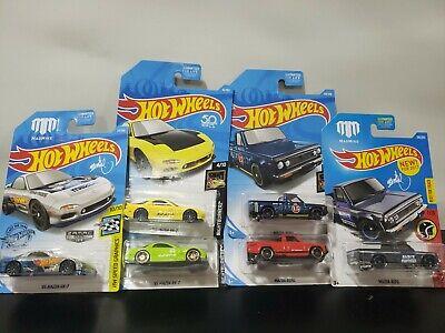 Hot Wheels Lot of 6 MAZDA 3 rx-7 3 Repu trucks Zamac red green yellow red blue