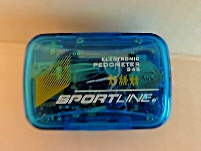 Sportline 345 Electronic Pedometer Cal/Step/Dist New