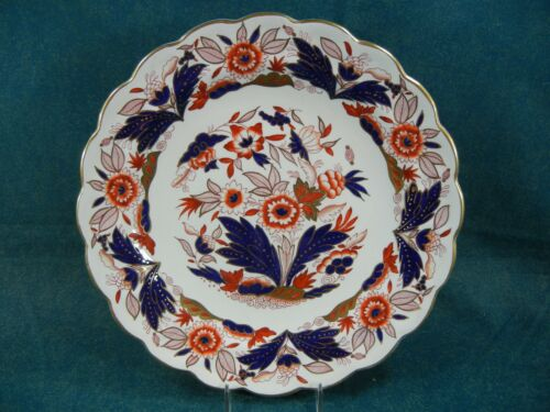 """Booths Dovedale Rust and Blue Imari A8044 Large 10 1/8"""" Dinner Plate(s)"""