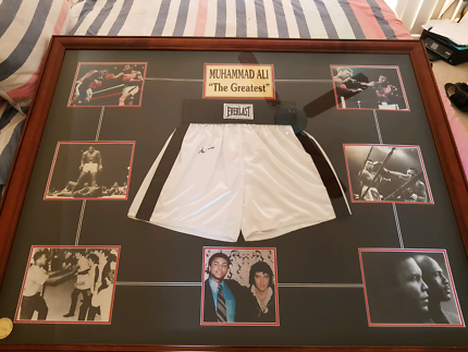 Signed Mohammad Ali Shorts with C.O.A