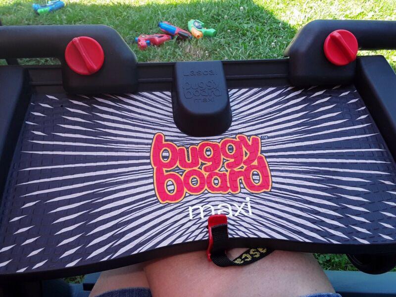 Lascal Buggy Board Maxi Universal Standing Platform Stroller Attachment - Black