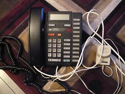 Nortel M9316cw Analog Phone W Lift Pack And Power Unit Black