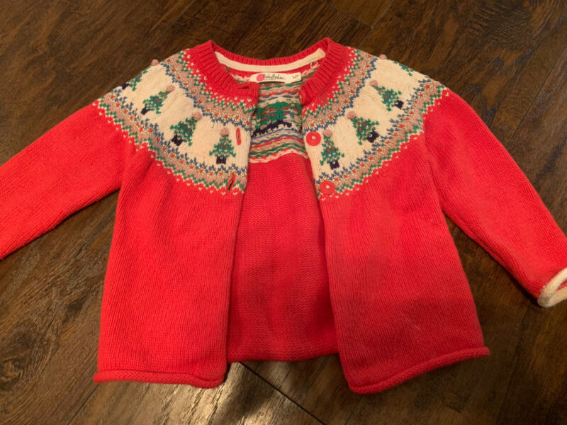 baby boden toddler girl sweater dusty pink size 12-18 months cardi