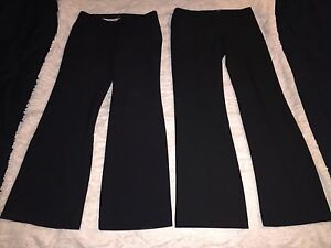 Two pair of stylish black dress pants