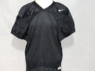 - Nike Core Practice Mens Football Jersey Black Mesh t shirt NWT Large L uniform