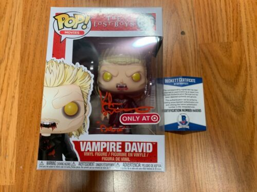 "Target Funko Pop Keifer Sutherland ""David"" The Lost Boys Autograph Beckett COA"