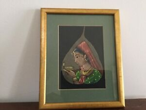 Painting  ( Original ) Indian Leaf Painting . Professionally Framed Highton Geelong City Preview