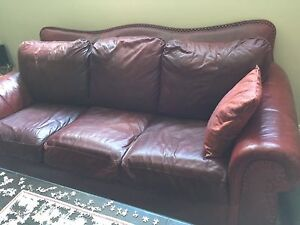 Full leather Lazyboy 3 piece couch set