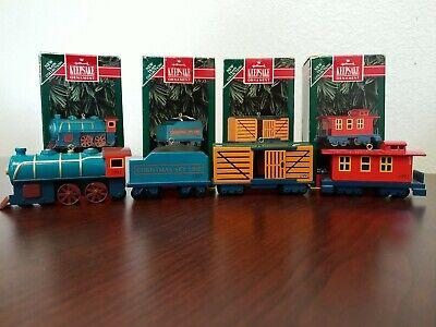 Hallmark Keepsake Christmas Ornament Sky Line Train Set 1992 Metal