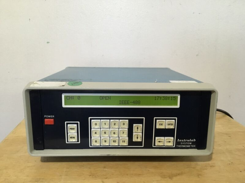 INSTRULAB SYSTEM THERMOMETER MODEL 3312A-14-15 RANGE -5 TO +105 Celsius