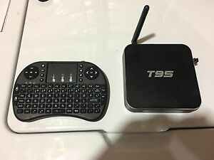 T95 android box with wireless remote , already programmed