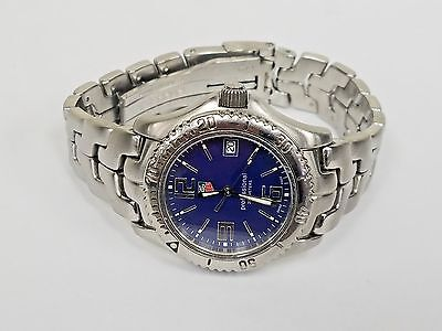 Tag Heuer Professional WT1213 Mid-Size Unisex Watch Blue Dial Date SS