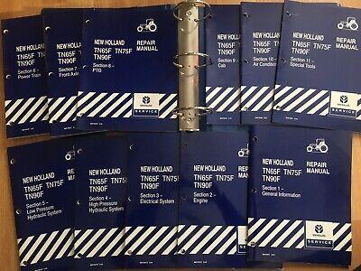 New Holland Tn65f Tn75f Tn90f Tractor Factory Service Repair Manual Set