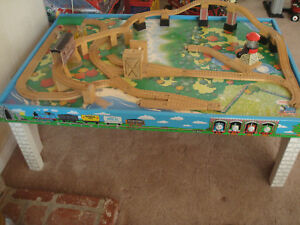 Thomas \u0026 Friends Table Wooden Train Road Railway Tracks Set Lot Los Angeles & Thomas Train Table Set | eBay